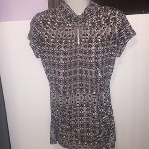 New York and Company pink black top. Size small.